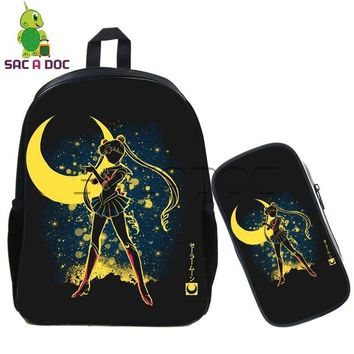 Anime Backpack School Kawaii kawaii cute Sailor Moon Fluorescence Backpack Chidren School Bags Cute Sailor Saturn Chibi Daily Bags Girls Travle Backpack AT_60_4