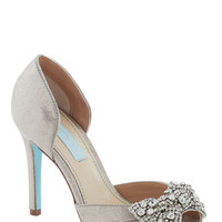 Betsey Johnson Dancing Gleam Heel in Silver