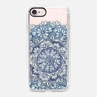 Indigo Medallion with Butterflies & Daisy Chains - transparent iPhone 7 Case by Micklyn Le Feuvre | Casetify