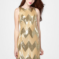 BB Dakota Gold Sequin Malia Dress