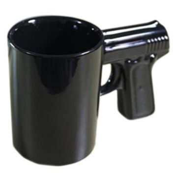 Creative personality ceramic pistol mug cup coffee cup shooting Cup