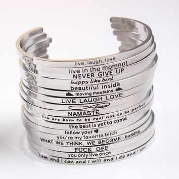 icon//Mantra Bracelet Bangle