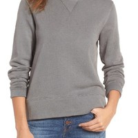 Madewell Garment Dyed Funnel Neck Sweatshirt | Nordstrom
