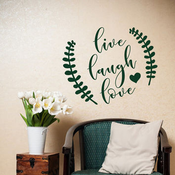 Live Laugh Love Wall Decal - Family Wall Decal - Wall Decal Love - Wall Decal Family Decor - Family Vinyl Wall Decals For The Home #120