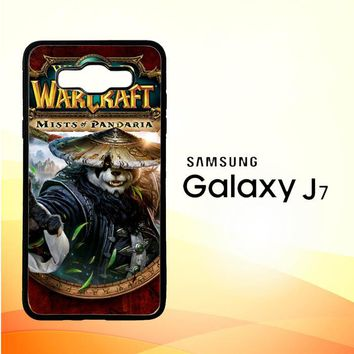 World of Warcraft Guardian Druid Mists of Pandaria Z0652 Samsung Galaxy J7 Edition 2016 SM-J710 Case