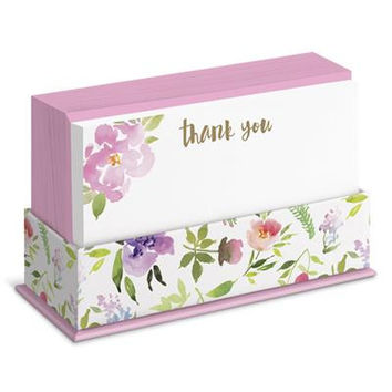 Watercolor Floral Flat Notes Boxed Set
