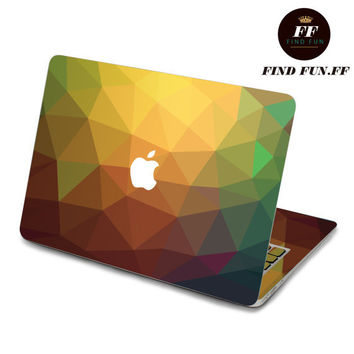 back cover decal mac pro decals stickers sticker Apple Mac laptop vinyl 3M surprise gift for her him beautiful 碎块1-064