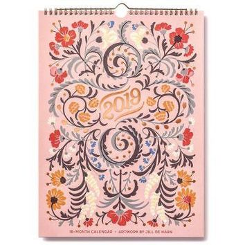 Floral Typography  Wall Calendar, Flower Art by Sellers Publishing