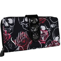 """Rose Skull"" Wallet by Sullen Clothing (Black)"