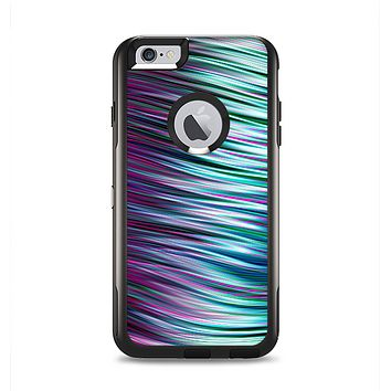 The Pink & Blue Vector Swirly HD Strands Apple iPhone 6 Plus Otterbox Commuter Case Skin Set