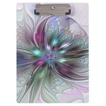 Colorful Fantasy, abstract and modern Fractal Art Clipboard