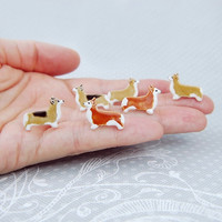 Corgi Pembroke Earrings Dog Lover Gift Ceramic Stud  Jewelry