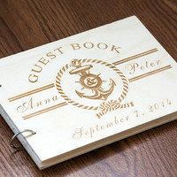 Wedding Guest book, Rustic Guestbook, Guest Book Personalized, Wedding Date and names, Customized