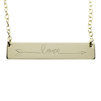 The Name Plate Necklace Love Arrow