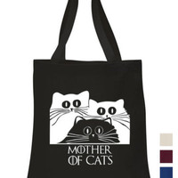 Mother of Cats Cotton Tote shopping office school book Bag Game of thrones fan | eBay