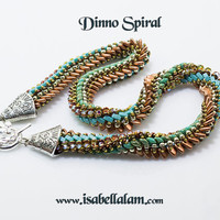 Dinno  Amazing Spiral with all innovative czech and Miyuki beads tutorial instructions for personal use only