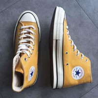 """Converse"" Fashion Canvas Flats Sneakers Sport Shoes yellow H 8-21"