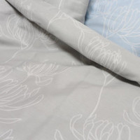 Two Pillowcase Blue Cray Grey Bedding