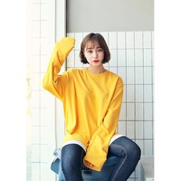 ♥1 + $1 off ♥Oversize Long-Sleeved T-Shirt by Hotping