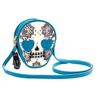Skeleton Skull with Heart Shaped Eyes Shaped Cross Body Shoulder Bag
