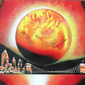 orange new york spray paint art,new york gifts,new york city wall art,new york home decor,space wall art,space poster,gift for him,unique