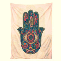 Hamsa Hand Tapestry ~ Protect from Evil Eye
