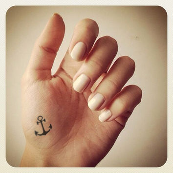 4pcs Small Anchor Set - InknArt Temporary Tattoo - wrist quote tattoo body sticker fake tattoo wedding tattoo small tattoo