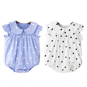 Baby Girl Clothes Short Sleeve Baby Girl Dress Newborn Baby Clothes Infant Jumpsuits