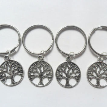 4 tree of lfe best friend keychains, 4 tree of life keyrings, tree tags | eBay