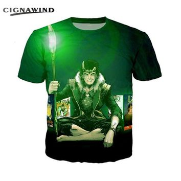 New Design fashion t shirt men/women 3D print Cartoon Avengers Thor The Dark World Loki t-shirts Harajuku tshirt streetwear tops
