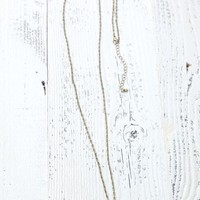 With Love From CA Long Single Eye Medallion Necklace - Womens Jewelry - Gold - One