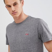 Levi's Small Batwing Logo T-Shirt Grey at asos.com