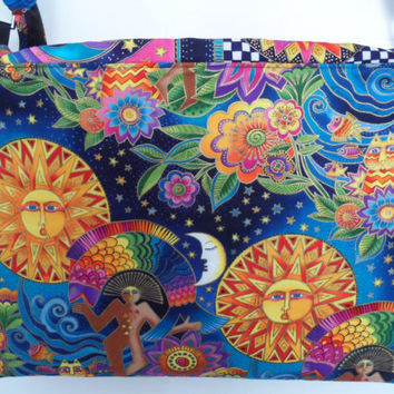CUSTOM ORDER for Ami  Laptop Bag in Laurel Burch Fabrics
