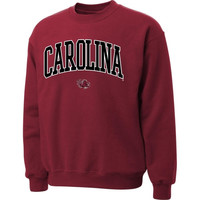 South Carolina Gamecocks Garnet Twill Arch Crewneck Sweatshirt