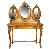 Versailles Gold Gilt Dressing Table