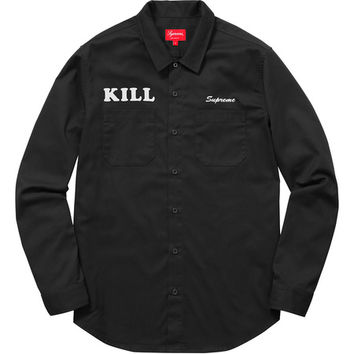 Supreme: Kill Work Shirt - Black