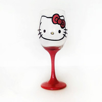 Red Hello Kitty Wine Glass - 20 oz