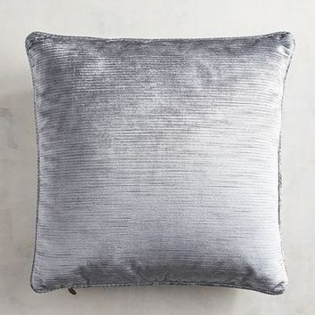 Luxe Velvet Striped Dark Gray Pillow