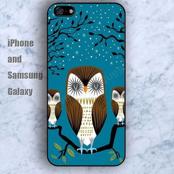 Night owls colorful iPhone 5/5S case Ipod Silicone plastic Phone cover Waterproof