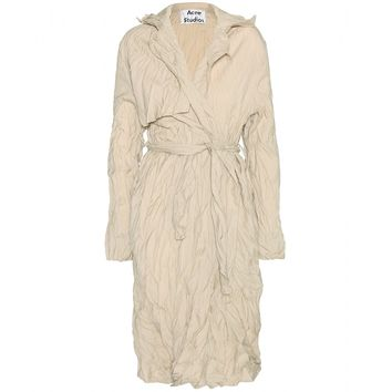 acne studios - friday froisse trench coat