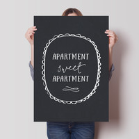 Apartment Sweet Apartment Chalkboard Print