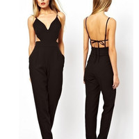 Sexy backless strapless jumpsuit  MY0067FY