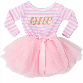 Toddler Mini Dress 12 24 Month Baby Girl First 1st 2nd birthday Outfit Little Girl Wear Party Long Sleeve Winter Autumn Clothing