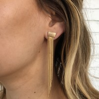 Letting Go Waterfall Earrings in Gold