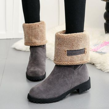 On Sale Hot Deal Winter With Heel Round-toe Boots [79792930841]