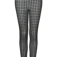 Gingham Flock Treggings