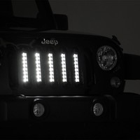 Jeep Wrangler Vertical LED Grill Kit 2007 - 2017 JK & JK Unlimited
