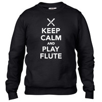 Keep calm and Play Flute Crewneck sweatshirt