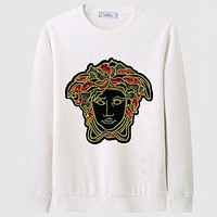 Versace Casual Simple Women Men Long Sleeve Shirt Top Tee