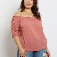 Plus Size Kara Off The Shoulder Blouse